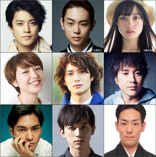 上段左から小栗旬さん、菅田将暉さん、橋本環奈